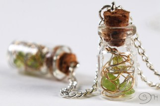 miniature-bottles-necklace-with-wired-peridot_18524221491_o